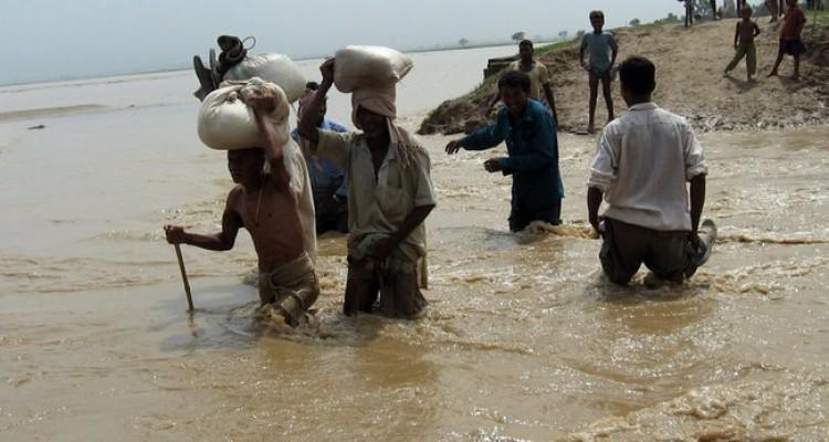 Flooding in Terai region (south part of Nepal).