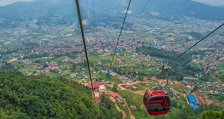 Cable-car-tour-at-Chandragiri-hill