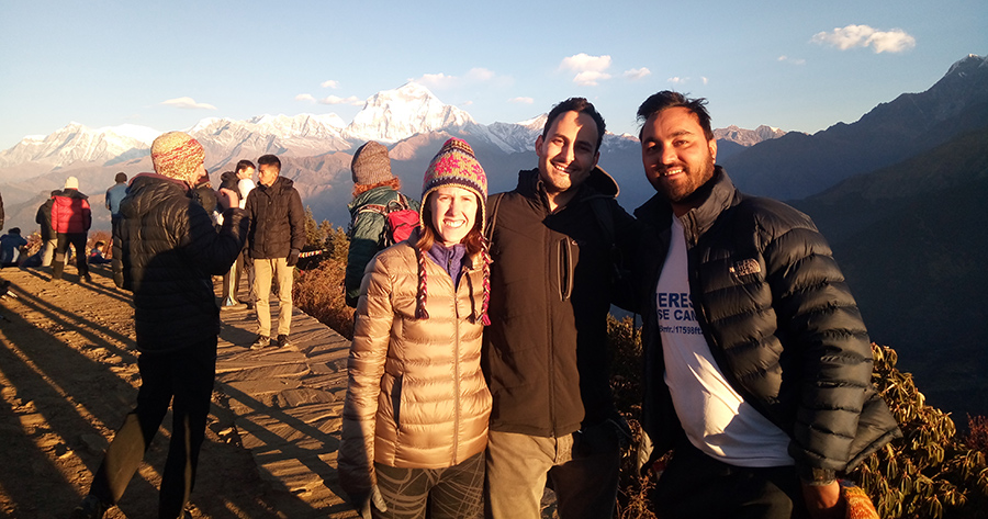At Poon hill- 3210m